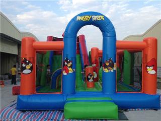 Mini Indoor Inflatable Angry Bird Funcity Playground for Kids