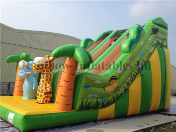 RB6038(10x5x7m) Inflatable Gaint jungle animal slide