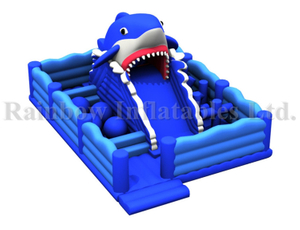 RB01047(7x10x5m)Inflatable Shark Funcity Amusement Park,