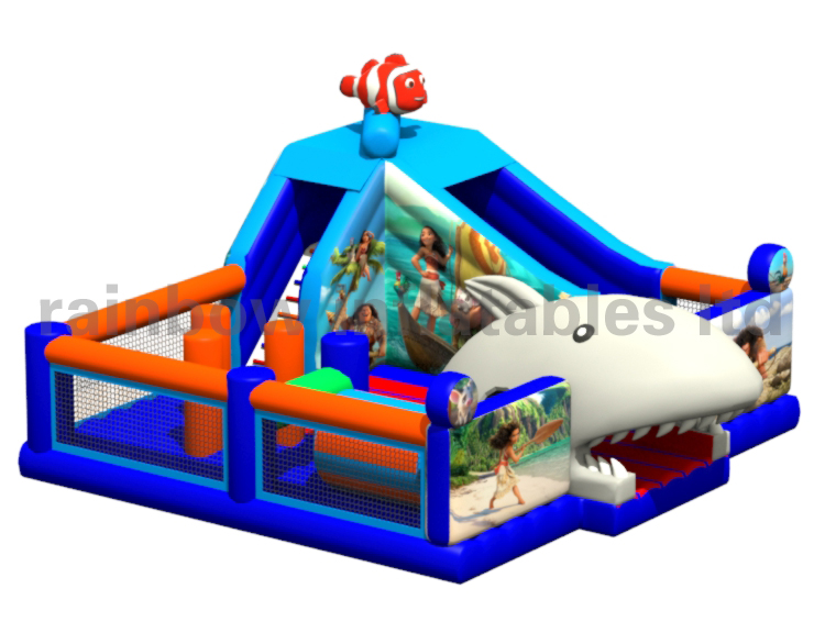 RB01053(7.6x8.5x4.5m)Inflatable Moana Playground/Funcity