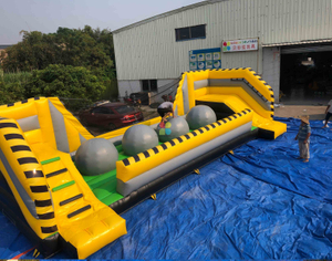 INFLATABLE YELLOW AND GREEN BIG BALLER GAME