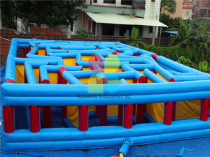 Hot Sale Outdoor Inflatable Maze Course Maze Game for Kids
