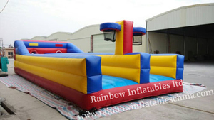RB9009(10.7x4.6x2.1m)Inflatable 3 line bungee run&basketball 2 in 1 games