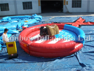 RB9124-6(5x5m)Inflatable Mechanical Bull Riding Game