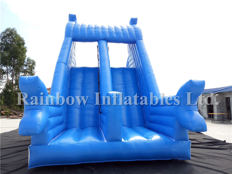 Hot Sale Big Commercial Inflatable Kids Water Slide Double Lanes