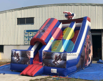 New Style Giant Commercial Inflatable Spiderman Slide Cartoon Inflatable Slide for Sale,Inflatable Cute Slide for Kids