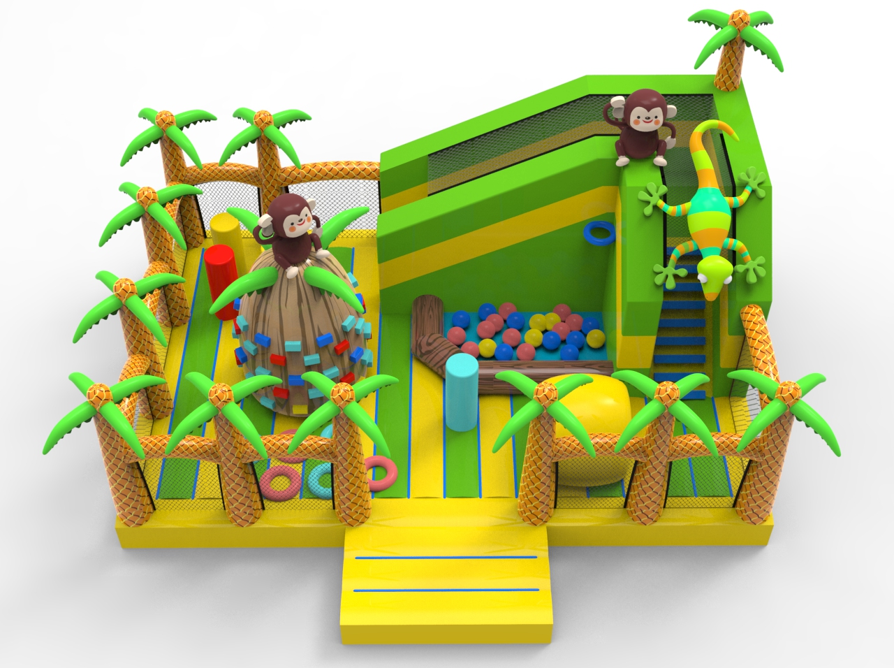 Monkey Inflatable playground funcity