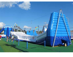 Standalone Huge inflatable Zip Line with Climb Ladder And Slide