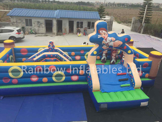 Large Commercial Inflatable Kungfu Kids Playground Funcity