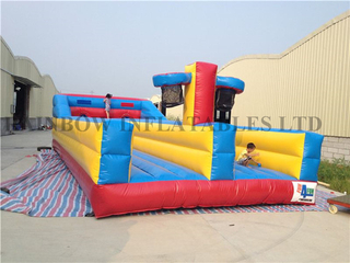 RB9009(10.7x4.6x2.1m)Inflatable Bungee run&basketball 2 in 1 games