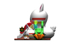 RB06118(5.7x5.6x5m)Inflatable rabbit double slide new design for sale