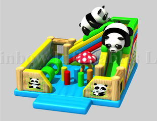New Design Commercial Inflatable Panda Bounce Playground for Kids