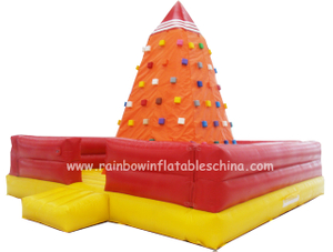 RB13007(6x6x4.5m)Inflatable Floating Rock Climbing Mountain for Amusement