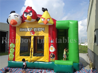 Hot Sale Commercial Angry Birds Inflatable Combo for Children