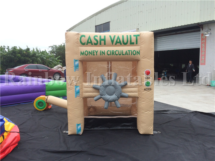 Small Indoor Inflatable Money Machine Cash Cube Money Booth for Carnival Games