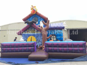 RB20040(8x8x7m)Inflatable Rainbow Halloween Haunted House Theme Combo
