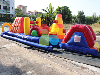 Amazing Outdoor Inflatable Water Obstacle Course Aqua Run Game for Kids