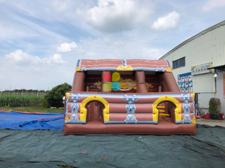 Pirate Treasure Chest Inflatable Slide