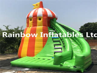 hot sale small inflatable shelter shape slide for children