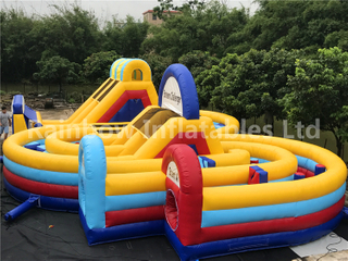 Large Outdoor Inflatable Sport Game Obstacle Course for Adults