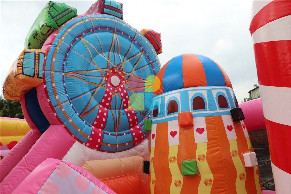 inflatable candy castle park