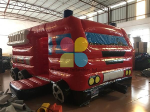Buy New Design Pvc Inflatable Fire Truck Combo