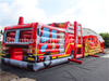 Giant Outdoor Inflatable Fire Truck Theme Obstacle Course Challenge Sport Game for Sale