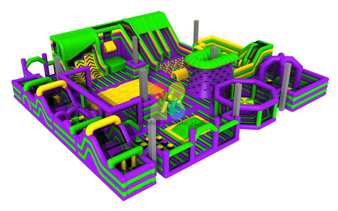 Rainbow new design of quality inflatable theme park