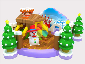 Inflatable X'mas Snow Theme Mini Bouncer Castle RB04010(6x8m)