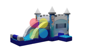 Lastest Disney Theme Inflatable Frozen Bouncy Jumping castle with Slide