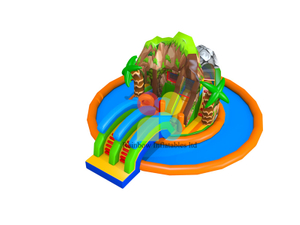 Popular Paw Patrol inflatable Water slide with pool