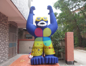 New design custom model giant inflatable gorilla for advertising