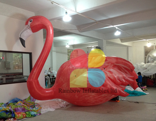 Customized LED Inflatable 3D Red Flamingo Model for Outdoor Decoration