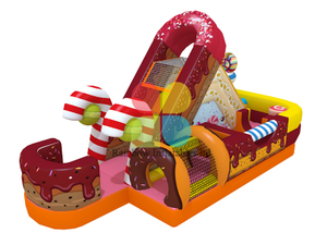 Sweet Candy Theme Inflatables Jumping Castles Funcity for Kids Party Entertainment