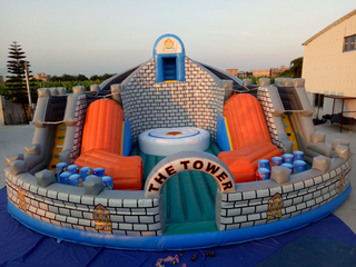 The Tower Inflatable Slide Obstacle Playground Customize Large Inflatable Tower Obstacle Course for Kids