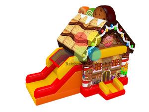 Cookies Theme Inflatables Jumping Castles with slide Funcity for Kids