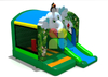 Elephant Jungle inflatable jumping bouncy combo with slide