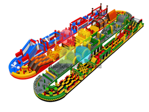 New design colorful inflatable obstacle course races insane inflatable 5k