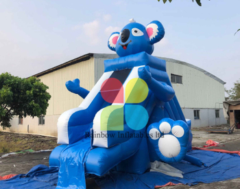 Cute Mouse Commercial PVC Inflatable Dry Slide For Kids