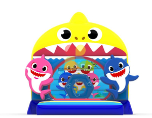 Shark castle inflatable jumping bouncy castle for kids