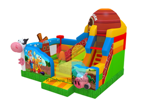 5x6x5m New design inflate bounce castle farm inflatable bounce for sale