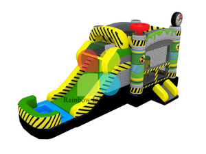 Kids jumping castle inflatable bounce house with slide