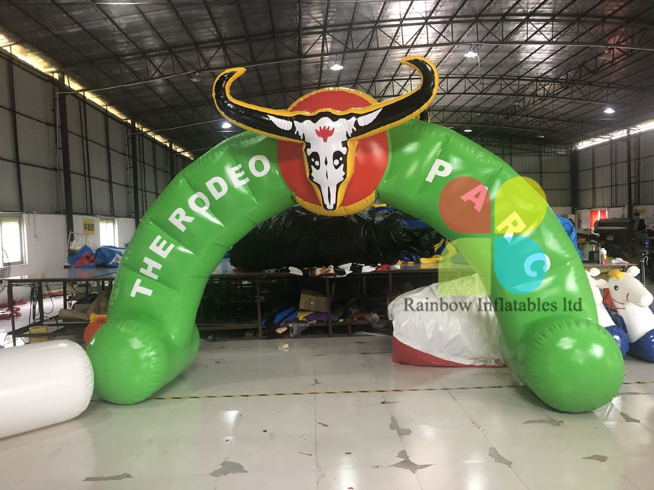 Customized Bull Inflatable Air Arch PVC Inflatable Doorway For Advertising