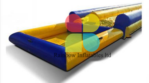 New Design long inflable water slide with pool