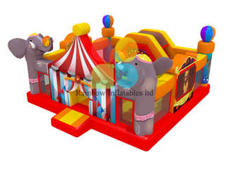 Elephant Inflatable Circus Fun city Playground for kids