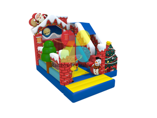 Chrismas inflatable Jumping bouncer combo with Slide