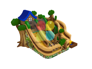 Jungle House Inflatable Jumping slide for kids