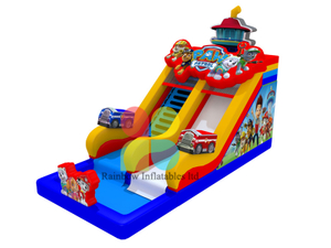 Circus Clown inflatable Bouncy bouncer combo with Slide