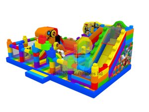 Giant Chinese Manufacturer Lego puzzle Inflatable Playground Jumping Bouncer