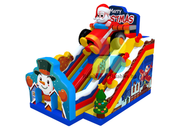9x6x8m New Design Merry Chrismas Santa Claus inflatable slide